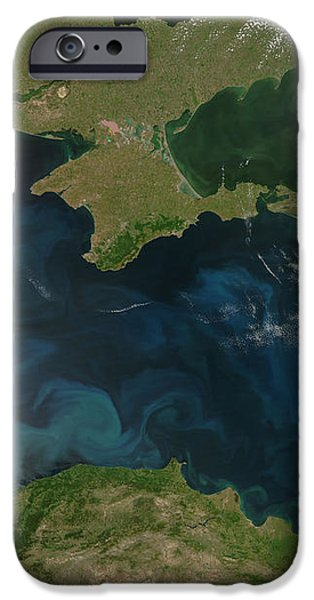 Black Sea Phytoplankton iPhone Case by NASA