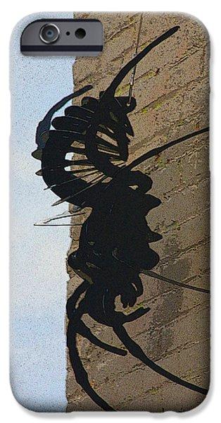 Black Widow Spider Art iPhone Case by Karon Melillo DeVega