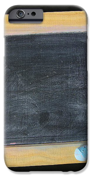 Blackboard chalk iPhone Case by Carlos Caetano