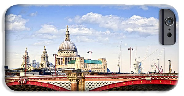 United iPhone Cases - Blackfriars Bridge and St. Pauls Cathedral in London iPhone Case by Elena Elisseeva