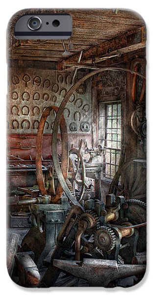 Blacksmith - That's a lot of Hoopla iPhone Case by Mike Savad