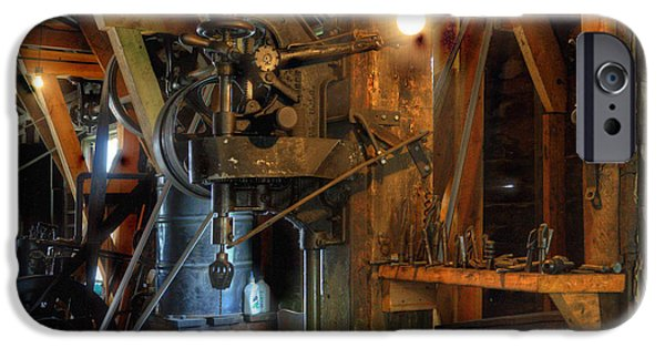 Work Tool iPhone Cases - Blacksmith Workshop iPhone Case by Bob Christopher