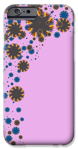 Component iPhone Cases - Blades On Purple iPhone Case by Atiketta Sangasaeng