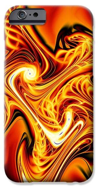 Blazing Cipher iPhone Case by Vicky Brago-Mitchell