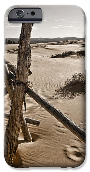 Sand Fences iPhone Cases - Bleak iPhone Case by Heather Applegate
