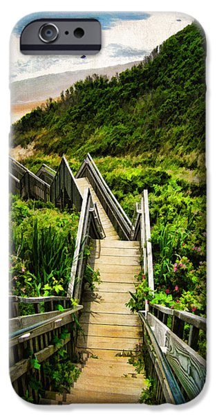 Best Sellers -  - Beach Landscape iPhone Cases - Block Island iPhone Case by Lourry Legarde
