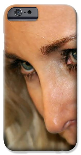 Blond Woman Strict iPhone Case by Henrik Lehnerer