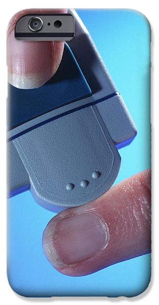 Blood Glucose Testing iPhone Case by Steve Horrell