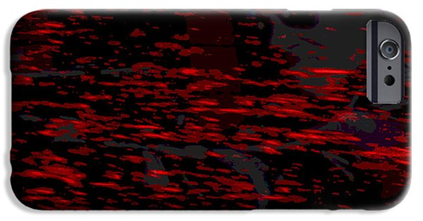 Nature Abstracts iPhone Cases - Bloody Waters iPhone Case by Jimi Bush