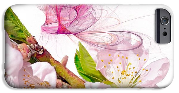Cherry Blossoms iPhone Cases - Blossom and Butterflies iPhone Case by Sharon Lisa Clarke