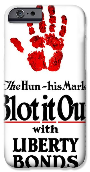 One iPhone Cases - Blot It Out With Liberty Bonds iPhone Case by War Is Hell Store