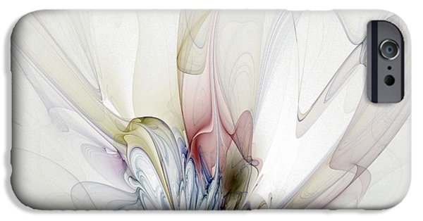 Abstract Digital Art iPhone Cases - Blow Away iPhone Case by Amanda Moore