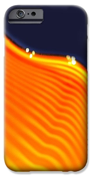 Blue and Orange iPhone Case by Artist and Photographer Laura Wrede