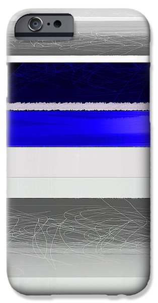 Blue and White Stripes iPhone Case by Naxart Studio