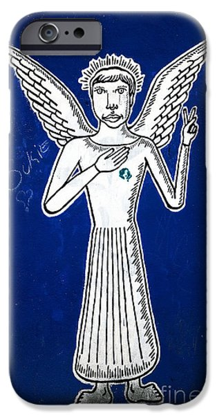 Angel Blues iPhone Cases - Blue Angel iPhone Case by John Rizzuto