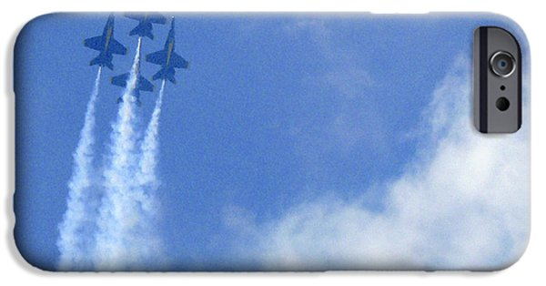 Sour iPhone Cases - Blue Angles iPhone Case by Mike McGlothlen
