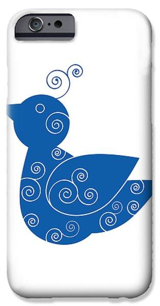 Blue Bird iPhone Case by Frank Tschakert