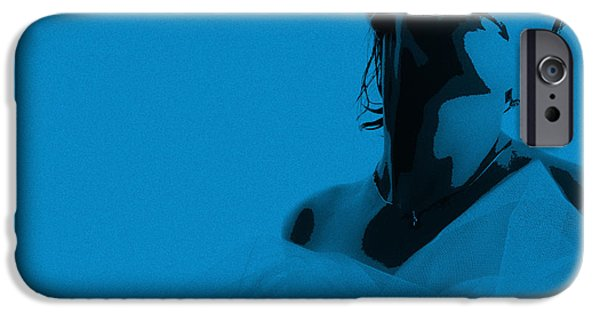 Bride iPhone Cases - Blue Bride iPhone Case by Naxart Studio