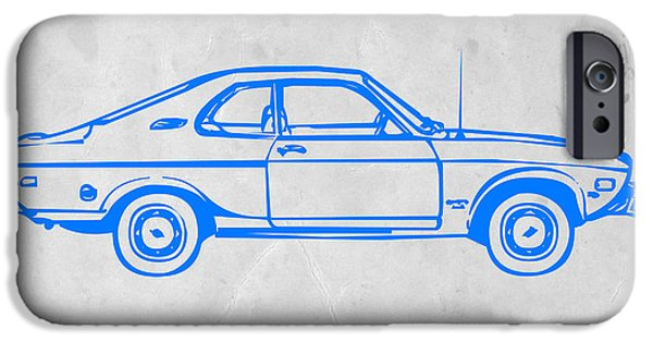 Concept iPhone Cases - Blue car iPhone Case by Naxart Studio