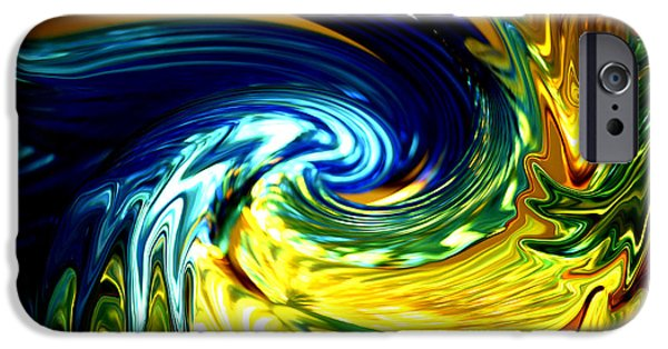 Digitally Created iPhone Cases - Blue Claw iPhone Case by Cheryl Young