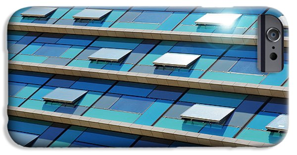 Business Photographs iPhone Cases - Blue Facade iPhone Case by Carlos Caetano