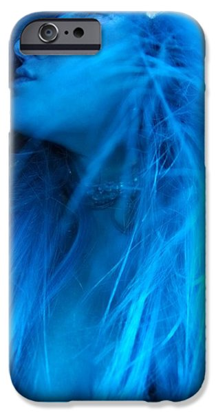 Figures iPhone Cases - Blue Fire 3 iPhone Case by Rylee Stearnes