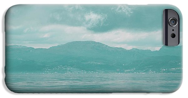 Norway iPhone Cases - Blue fjord iPhone Case by Sonya Kanelstrand