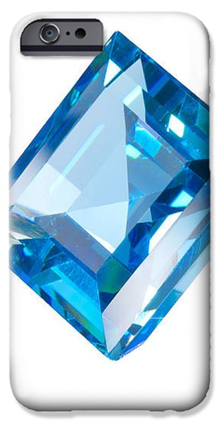 blue gem isolated iPhone Case by ATIKETTA SANGASAENG