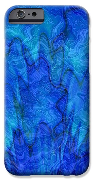 Blue Glass - Abstract Art iPhone Case by Carol Groenen