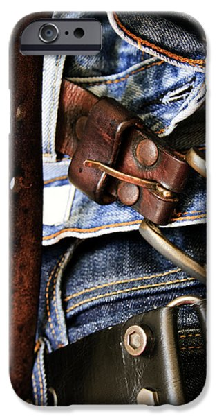 Denim iPhone Cases - Blue Jeans iPhone Case by Stylianos Kleanthous