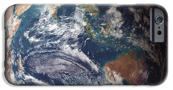 Phytoplankton iPhone Cases - Blue Marble Image Of Earth (2005) iPhone Case by Nasa Earth Observatory