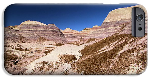 Petrified Forest Arizona iPhone Cases - Blue Mesa Landscape iPhone Case by Adam Jewell