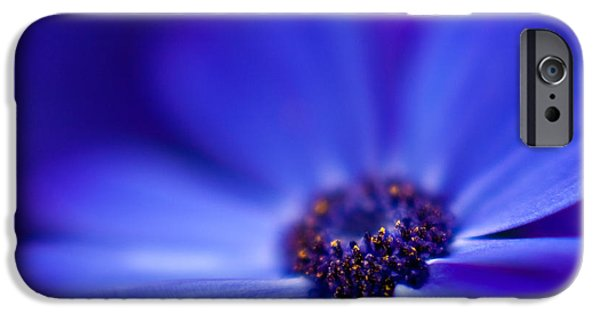 Macro iPhone Cases - Blue iPhone Case by Mike Reid