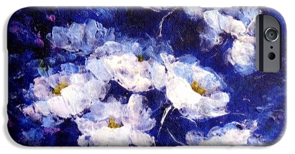 Windblown Paintings iPhone Cases - Blue Mood iPhone Case by Madeleine Holzberg