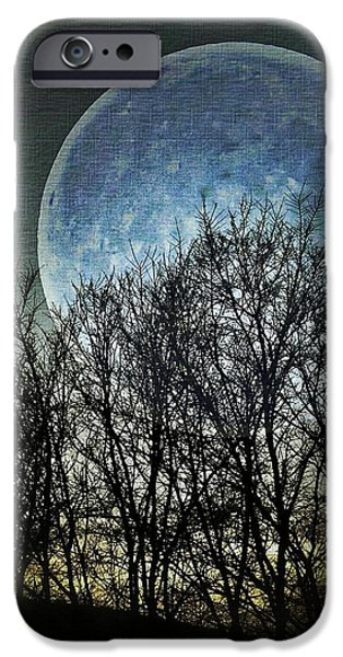 Moon iPhone Cases - Blue Moon iPhone Case by Marianna Mills