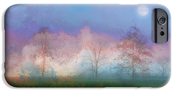 Landscape iPhone Cases - Blue Moon iPhone Case by Ron Jones