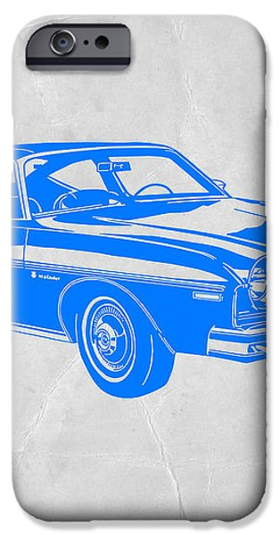 Blue Muscle Car iPhone Case by Naxart Studio