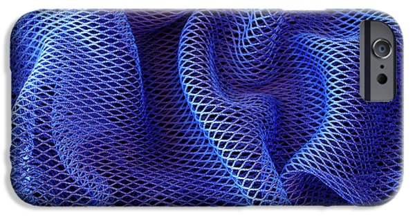 Apnea iPhone Cases - Blue Net Background iPhone Case by Carlos Caetano
