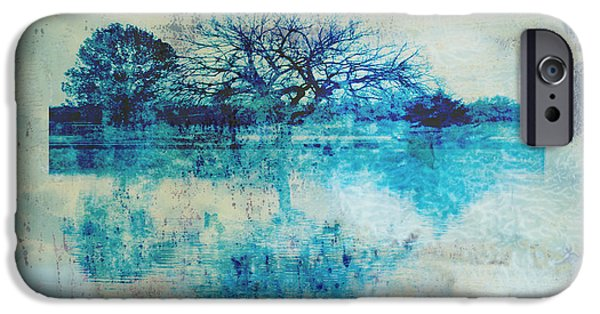 Blue iPhone Cases - Blue on Blue iPhone Case by Ann Powell