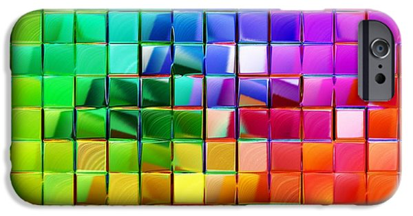 Colorful Abstract iPhone Cases - Blue Reflection Abstract iPhone Case by Michael C Geraghty