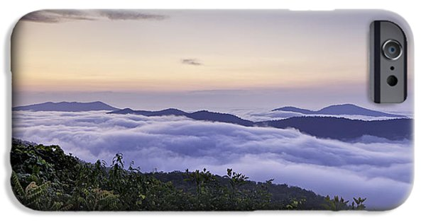 Cloudscape Photographs iPhone Cases - Blue Ridge Cloudscape ll iPhone Case by Rob Travis