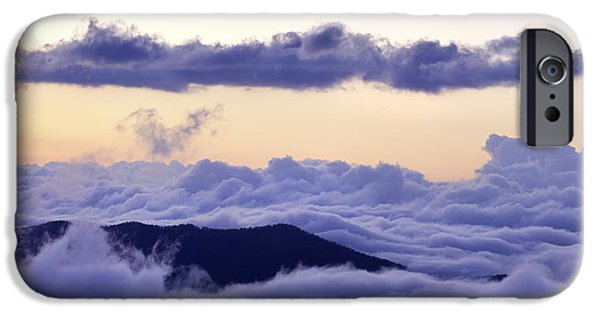 Cloudscape Photographs iPhone Cases - Blue Ridge Cloudscape iPhone Case by Rob Travis