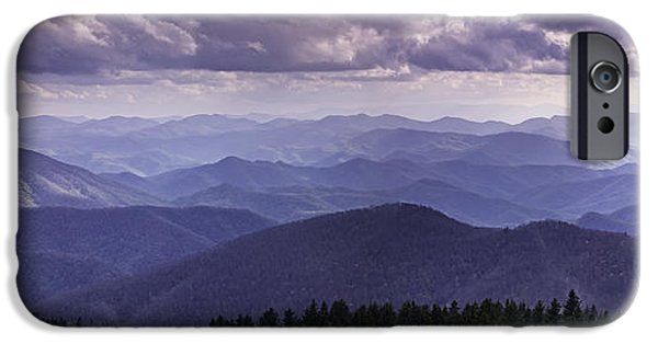 Cloudscape Photographs iPhone Cases - Blue Ridge Mountain Vista iPhone Case by Rob Travis