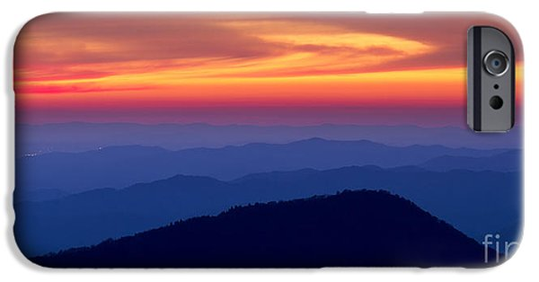 Blue Ridge Parkway iPhone Cases - Blue Ridge Mountains North Carolina iPhone Case by Dustin K Ryan