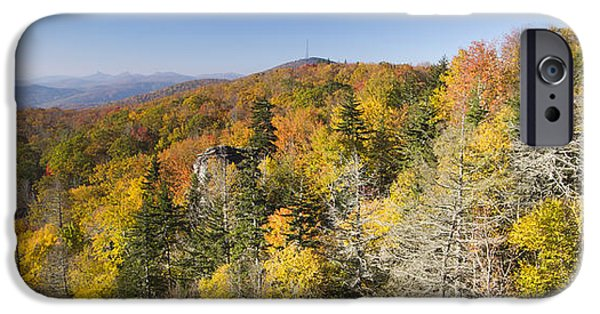 Blue Ridge Parkway iPhone Cases - Blue Ridge Parkway in Autumn iPhone Case by Dustin K Ryan
