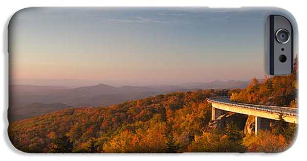 Blue Ridge Parkway iPhone Cases - Blue Ridge Parkway Linn Cove Viaduct iPhone Case by Dustin K Ryan
