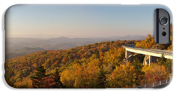 Canon iPhone Cases - Blue Ridge Parkway Linn Cove Viaduct Fall Colors iPhone Case by Dustin K Ryan