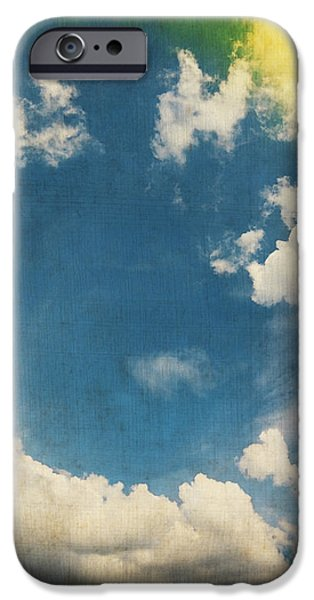 blue sky on old grunge paper iPhone Case by Setsiri Silapasuwanchai
