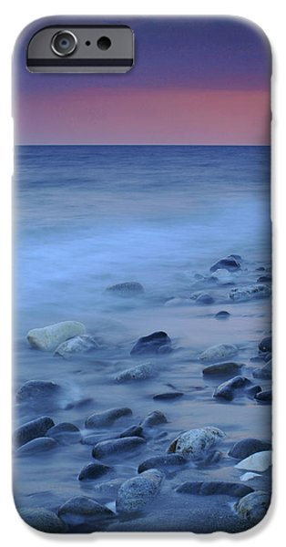 Malaga iPhone Cases - Blue stones iPhone Case by Guido Montanes Castillo