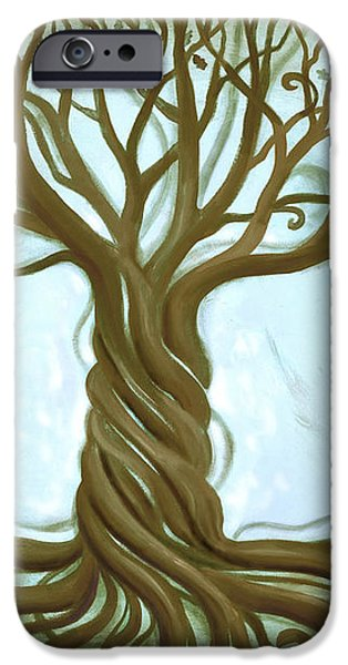 Blue Tree of Life iPhone Case by Renee Womack